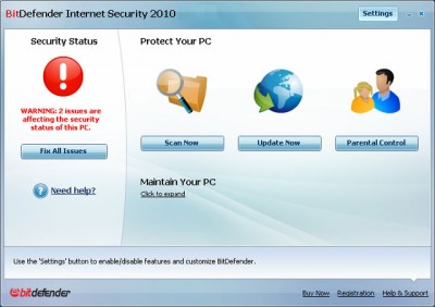 BitDefender Internet Security - maintain your PC