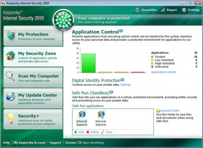 Kaspersky Internet Security - application control