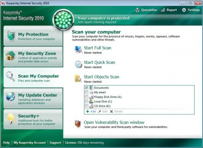 Kaspersky Internet Security - scan